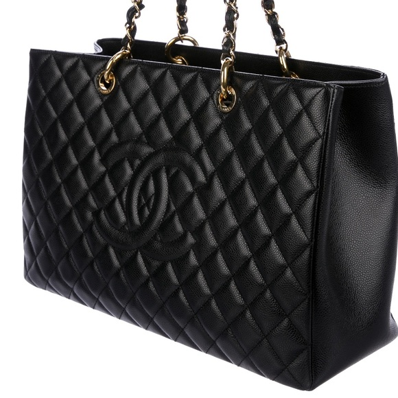 92ad8c8d98ac Black quilted Caviar leather Chanel XL‼️NOTRADES‼️